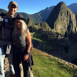 Steven Ayers and Shannon O'Neill at Machu Picchu, Peru
