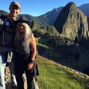 Steven Ayers and Shannon O'Neill at Machu Picchu, Peru
